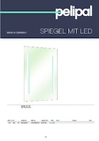 catalog illustration Spiegel mit LED inkl. Touchsensor
